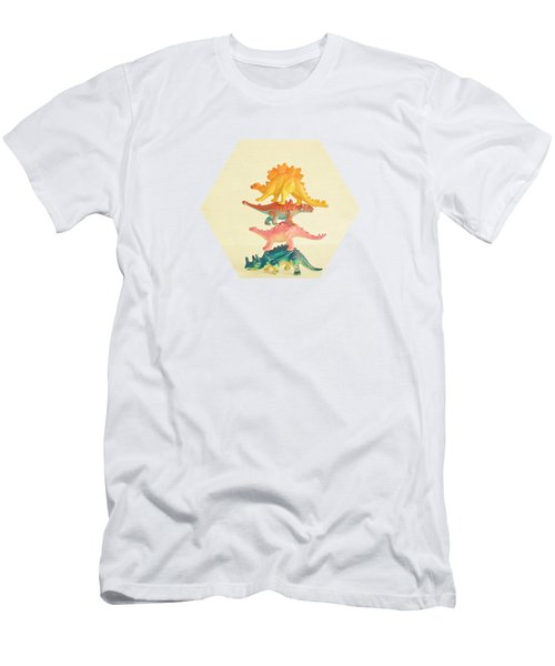 Dinosaur Antics Men's T-Shirt (Athletic Fit)