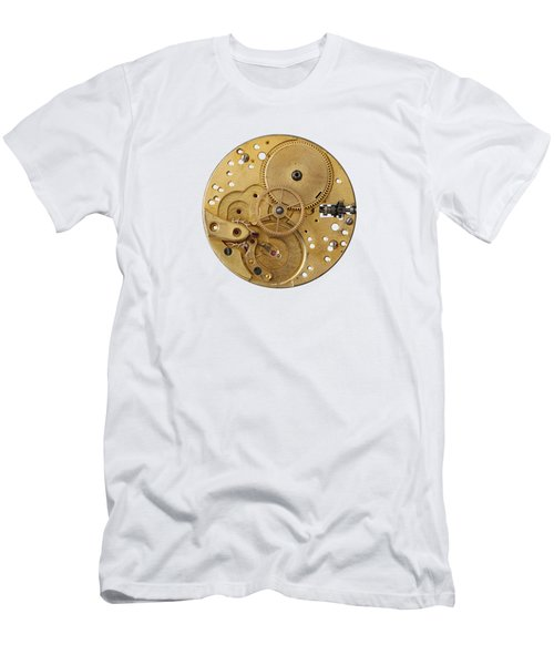 Men's T-Shirt (Slim Fit) featuring the photograph Dismantled Clockwork Mechanism by Michal Boubin