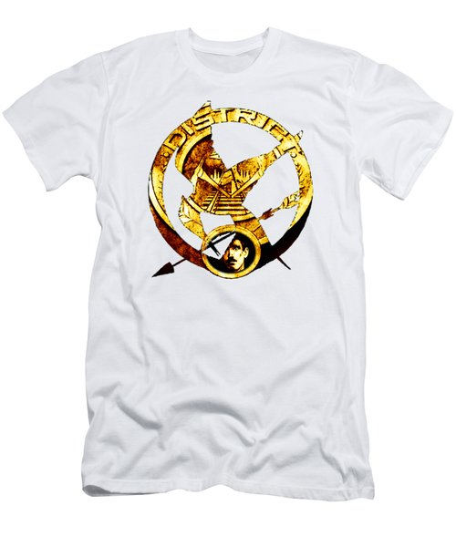 Men's T-Shirt (Slim Fit) featuring the photograph District 12 T-shirt by Kathy Kelly
