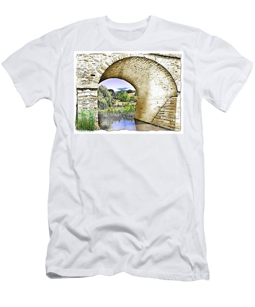 Men's T-Shirt (Slim Fit) featuring the photograph Do-00262 Richmond Bridge by Digital Oil