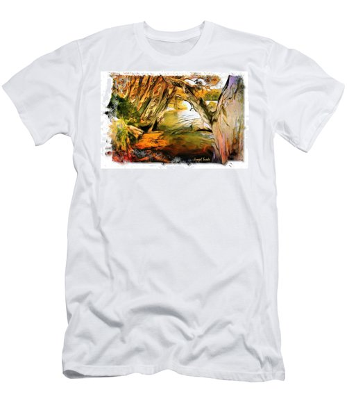 Men's T-Shirt (Slim Fit) featuring the photograph Do-00268 Trees On Water In Avoca Estuary by Digital Oil