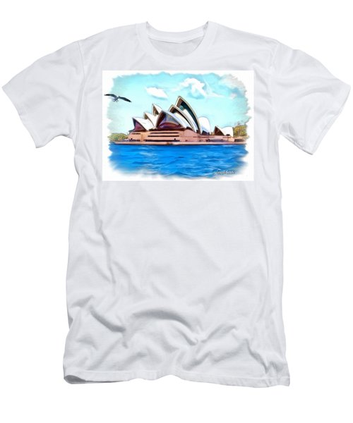 Men's T-Shirt (Slim Fit) featuring the photograph Do-00293 Sydney Opera House by Digital Oil