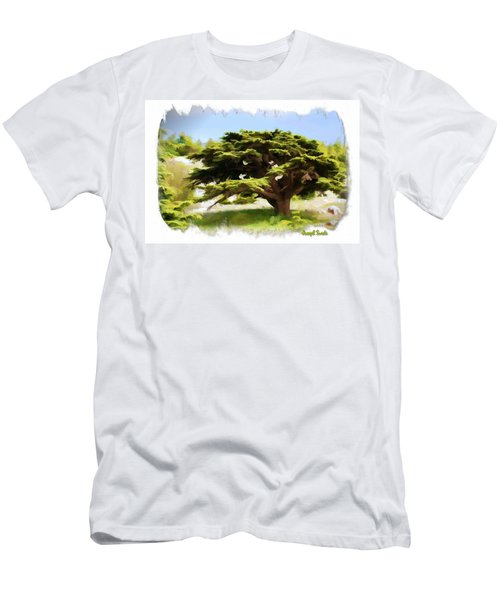 Men's T-Shirt (Slim Fit) featuring the photograph Do-00319 Cedar Tree by Digital Oil