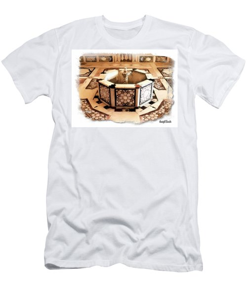 Men's T-Shirt (Slim Fit) featuring the photograph Do-00323 Old Bath Fountain by Digital Oil