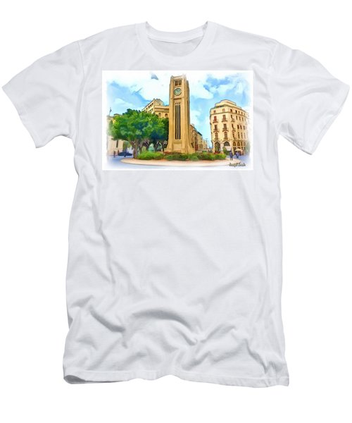 Do-00358 The Clock Tower Men's T-Shirt (Athletic Fit)