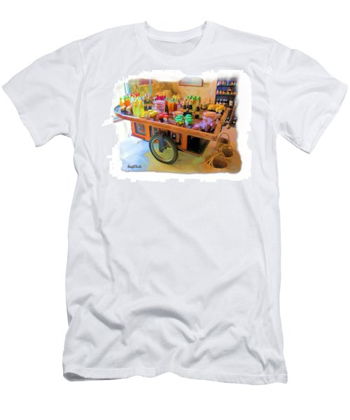 Men's T-Shirt (Athletic Fit) featuring the photograph Do-00391 Wheel Stand by Digital Oil