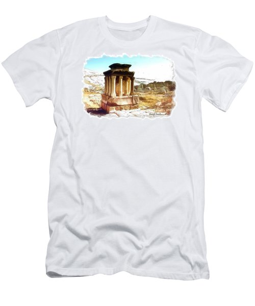 Men's T-Shirt (Slim Fit) featuring the photograph Do-00432 The Temple Of Faqra by Digital Oil