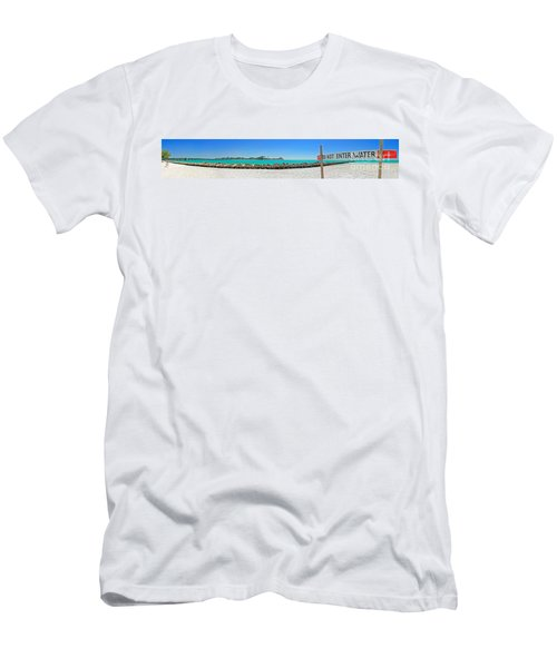 Do Not Enter Water Men's T-Shirt (Athletic Fit)