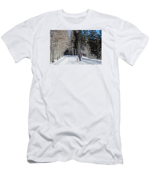 Do They Sell Snow Tires For Bikes Men's T-Shirt (Slim Fit) by Carol M Highsmith