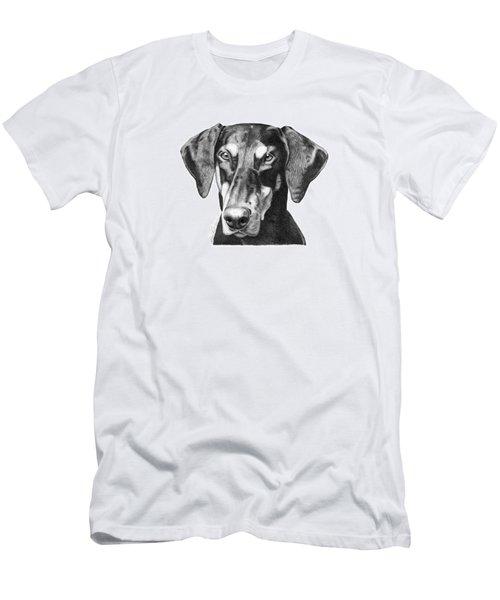 Doberman Men's T-Shirt (Slim Fit) by Abbey Noelle