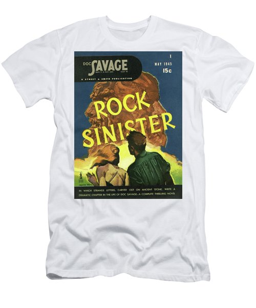 64feb745 Doc Savage Rock Sinister Men's T-Shirt (Athletic Fit)