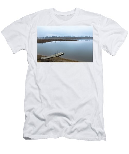 Dock On A Serene Lake Men's T-Shirt (Athletic Fit)