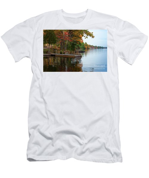 Dock On Lake In Fall Men's T-Shirt (Athletic Fit)