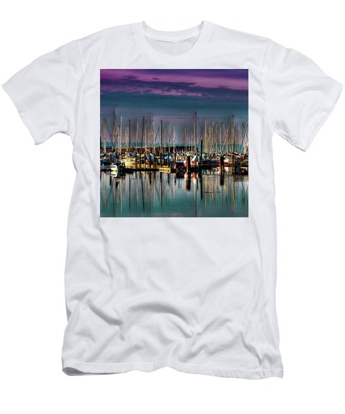Docked Sailboats Men's T-Shirt (Slim Fit) by David Patterson