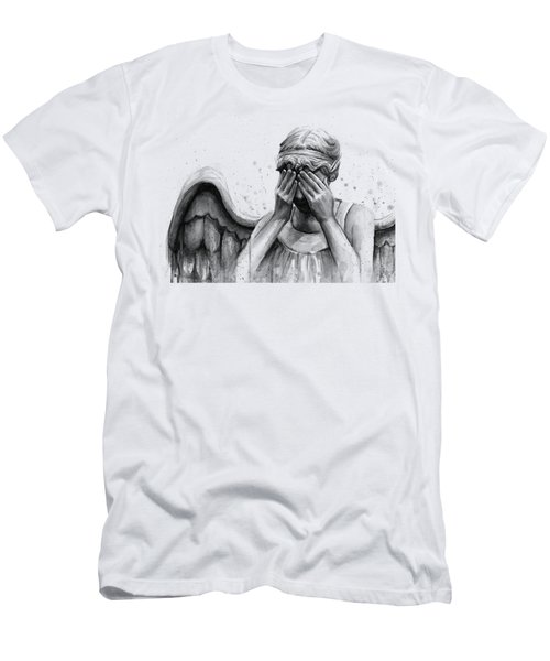 Doctor Who Weeping Angel Don't Blink Men's T-Shirt (Athletic Fit)