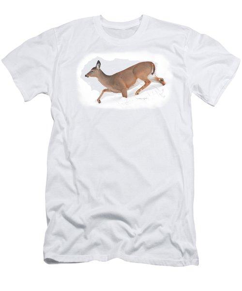 Doe In Deep Snow Men's T-Shirt (Athletic Fit)