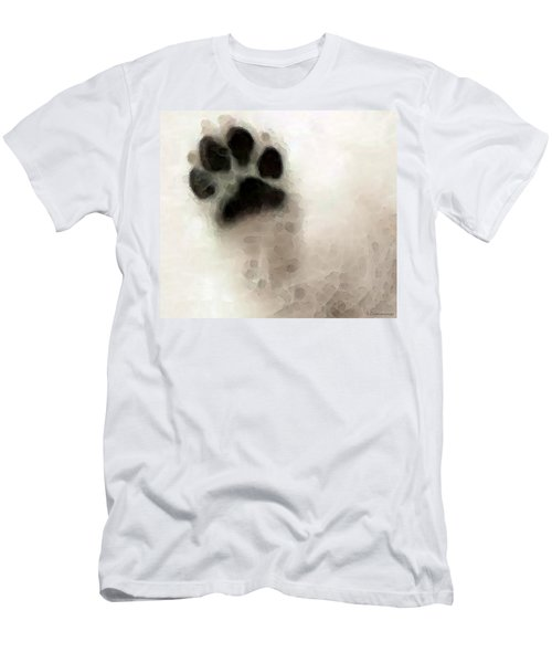 Men's T-Shirt (Athletic Fit) featuring the painting Dog Art - I Paw You by Sharon Cummings