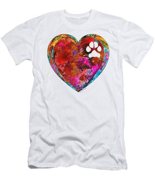Dog Art - Puppy Love 2 - Sharon Cummings Men's T-Shirt (Athletic Fit)