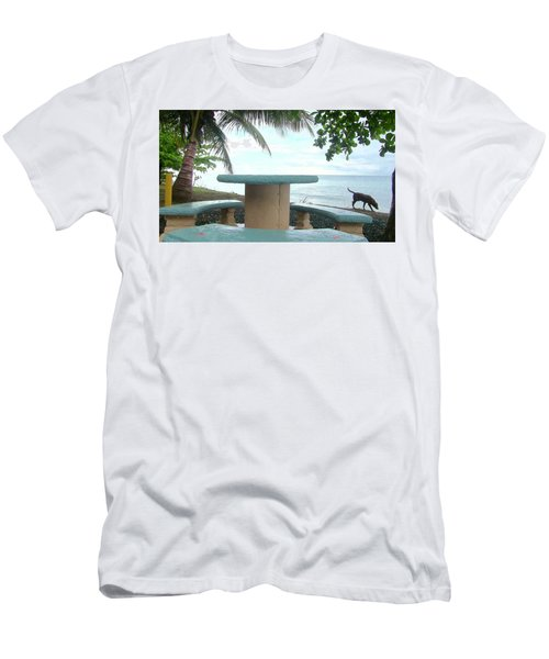 Dog By The Beach In Rincon Men's T-Shirt (Athletic Fit)