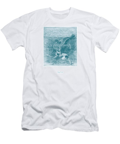Men's T-Shirt (Slim Fit) featuring the painting Dog Fish by David Davies