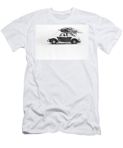 Dog In Car  Men's T-Shirt (Athletic Fit)