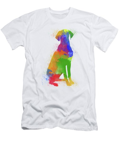 Dog Watercolor 1 Men's T-Shirt (Athletic Fit)
