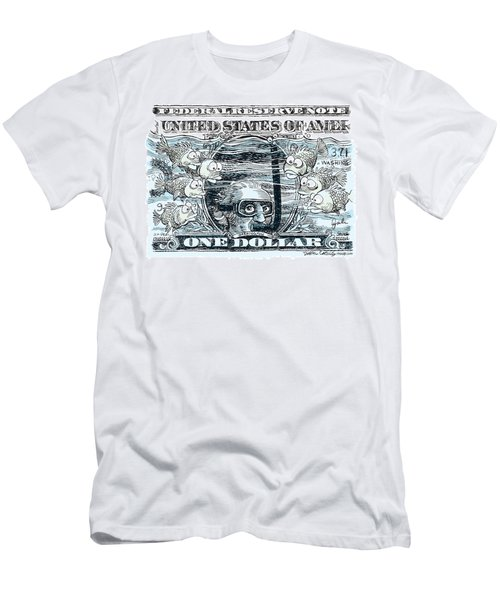 Dollar Submerged Men's T-Shirt (Athletic Fit)