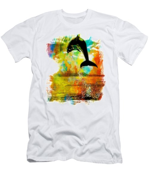 Dolphin Sunset Men's T-Shirt (Athletic Fit)
