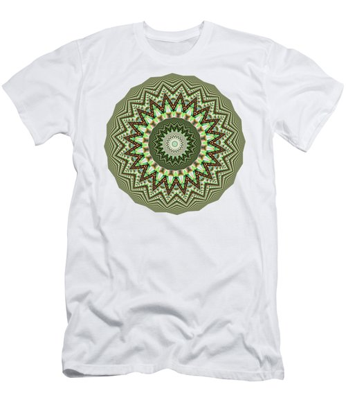 Dome Of Chains Mandala By Kaye Menner Men's T-Shirt (Slim Fit) by Kaye Menner