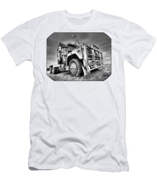 Done Hauling - Black And White Men's T-Shirt (Athletic Fit)