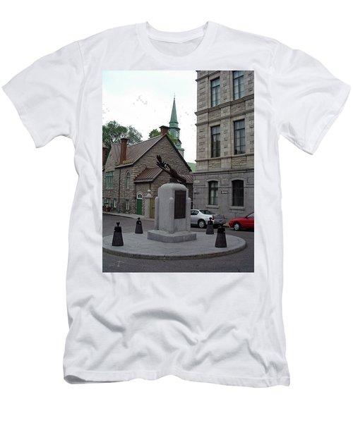 Men's T-Shirt (Athletic Fit) featuring the photograph Donnacona And Du Parloir by John Schneider