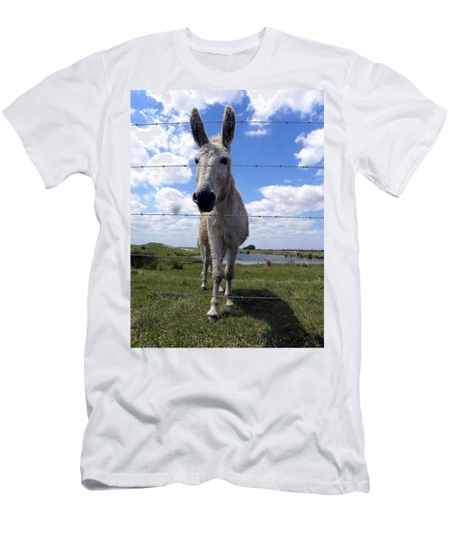 Men's T-Shirt (Slim Fit) featuring the photograph Don't Fence Me In 000  by Chris Mercer