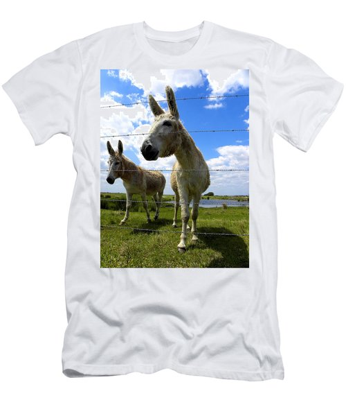 Men's T-Shirt (Slim Fit) featuring the photograph Don't Fence Me In 001 by Chris Mercer