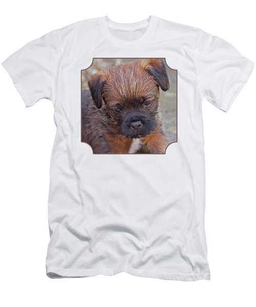 Don't Leave Me - Border Terrier Pupppy Men's T-Shirt (Athletic Fit)