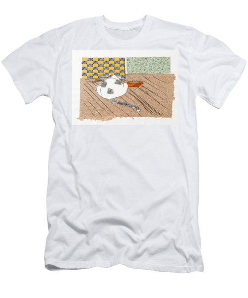 Don't Touch Me Or I Will Eat You Too Men's T-Shirt (Slim Fit) by Leela Payne
