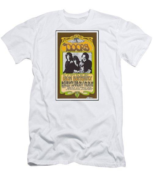Doors/iron Butterfly Concert Poster Men's T-Shirt (Slim Fit) by Allen Beilschmidt