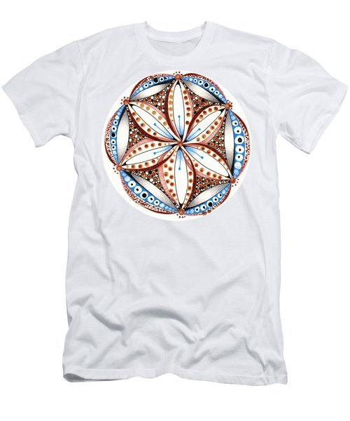 Men's T-Shirt (Athletic Fit) featuring the drawing Dotted Zendala by Jan Steinle