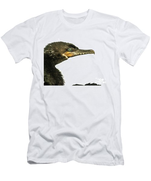 Men's T-Shirt (Slim Fit) featuring the photograph Double-crested Cormorant  by Robert Frederick