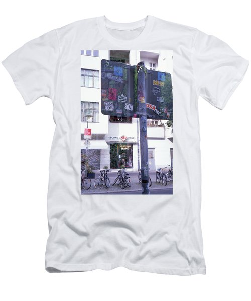Double Exposure Street Sign Men's T-Shirt (Athletic Fit)