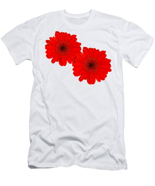 Double Gerbera Men's T-Shirt (Slim Fit) by Scott Carruthers