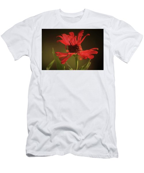 Men's T-Shirt (Slim Fit) featuring the photograph Double Petals by Donna G Smith