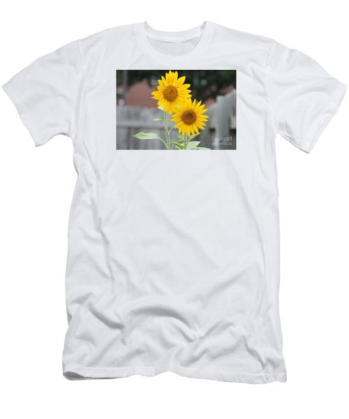 Double Sunflowers Men's T-Shirt (Athletic Fit)