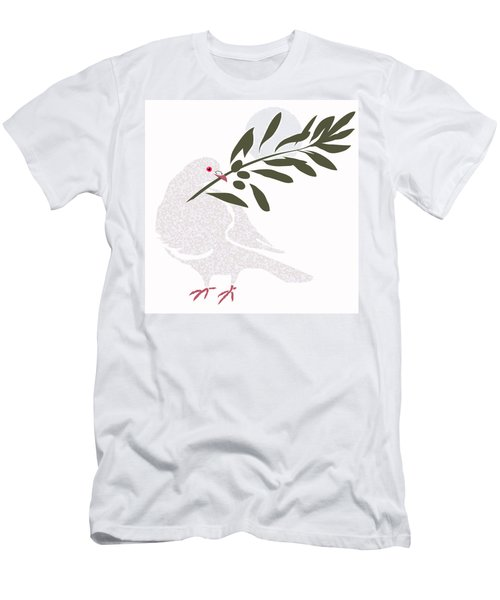 Dove Of Peace Men's T-Shirt (Athletic Fit)
