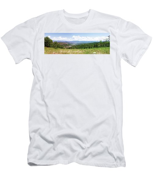Men's T-Shirt (Slim Fit) featuring the photograph Down The Valley At Snowmass #2 by Jerry Battle