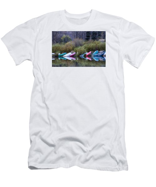 Downtime At Beaver Lake Men's T-Shirt (Slim Fit) by Alana Thrower