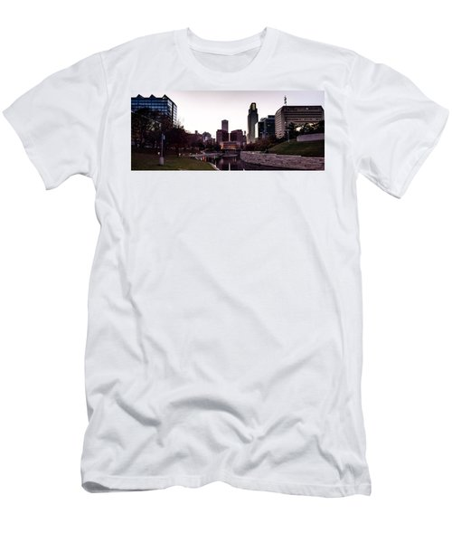 Downtown Omaha At Sunset Men's T-Shirt (Athletic Fit)