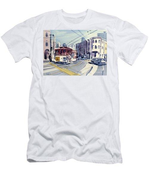 Downtown San Francisco Men's T-Shirt (Slim Fit) by Donald Maier