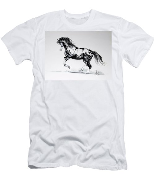 Dream Horse Series - Painted Dust Men's T-Shirt (Slim Fit) by Cheryl Poland