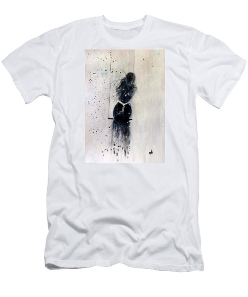 Men's T-Shirt (Slim Fit) featuring the painting Dreams Come True.. 6 by Cristina Mihailescu