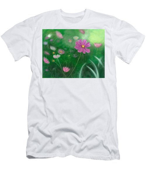 Cosmos Flowers Men's T-Shirt (Athletic Fit)